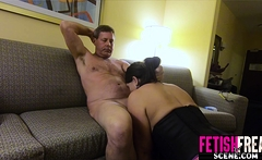 MILF love taking her husbands cock in her arse