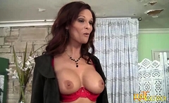Busty MILF enjoys a big cock in her pussy