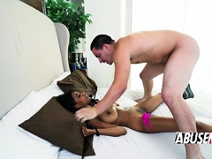 Black Chick Likes Resisting As Her Man Tries To Dominate Her