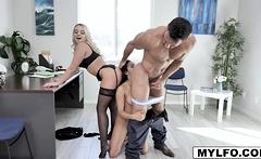 Johny slams Adrian hard to see if she can handle the job