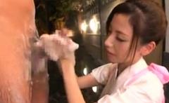 Asian milf hot handjob