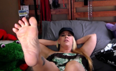 Blonde foot fetish bitch