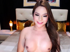 Beautiful Shemale Playing With Her Big Dick On Cam