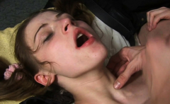 Sultry russian kitty Kayla cums from rod riding