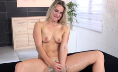 Blonde Toying Her Pee Soaked Pussy