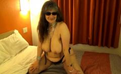 Tinja Drops Black String Bikini Top To Show Perfect Breasts