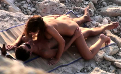 Nice hardcore fucking beach voyeur video