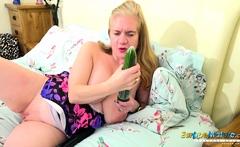 EuropeMaturE Busty British Mature Masturbation