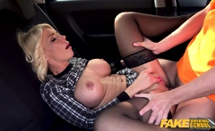 Fake Driving School Blonde MILF Tiffany Russo Fucks