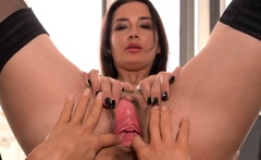 Sexy czech kitten gapes her slim cunt to the bizarre09gvJ