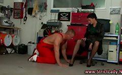 Mistress humiliates fetish loser
