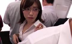 Japanese model is a hot milf getting it on in public