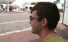 Gay Twink Sucks on the Street