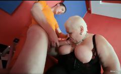 Horny blonde MILF Doctor Lucia blows