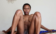 Skinny African Slut Would Do Anything To Become Famous