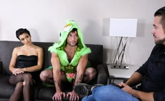Bisexual Counselor Fucks Cosplay Guy And Wife