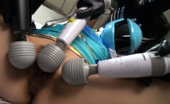 Japanese cosplayer, Brave Blue is squirting, uncensored