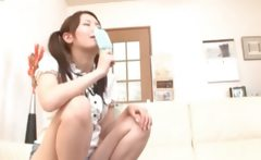Teenage asian babe licking icecream and cock