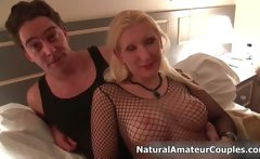 Big tits blonde loves showing of her sex