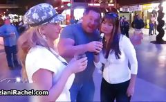Hot milfs get horny drinking and walking