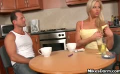 Sexy blonde bitch gets aroused for some
