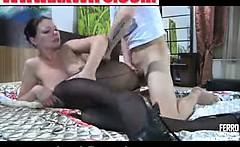 Jennie Morris cool anal pantyhose action